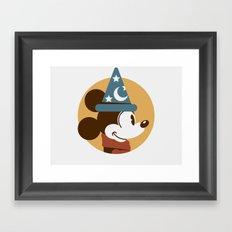 Headgear - Sorcerer's Apprentice Mickey Framed Art Print
