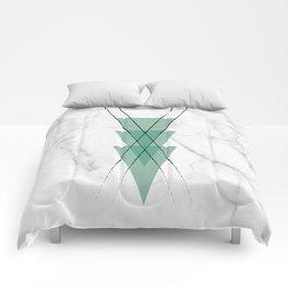 Marble Scandinavian Design Geometric Triangle Comforters
