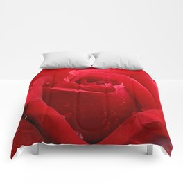In the Heart of a Red Rose Comforters