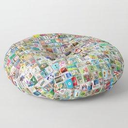 The Soccer Stamp Floor Pillow
