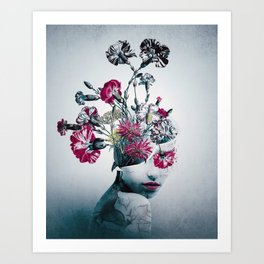 The spirit of flowers Art Print