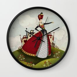 Off with their heads Queen of hearts from Alice in Wonderland Wall Clock