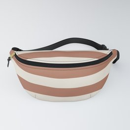Inspired By Cavern Clay Sw 7701 Hand Drawn Thick Horizontal Lines on Creamy SW7012 Fanny Pack