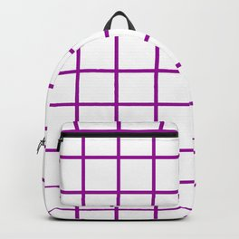 GRID DESIGN (PURPLE-WHITE) Backpack
