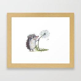 Hedgehog & Dandelion Framed Art Print