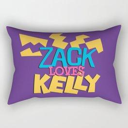 Zack Loves Kelly Rectangular Pillow