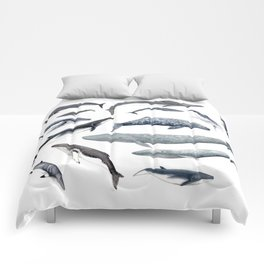 Whales all around Comforters