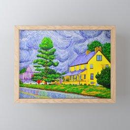 House and Barn in West Grove Framed Mini Art Print