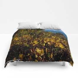 Fall Gold on the Lake Shore (Chicago Northerly Island Collection) Comforters