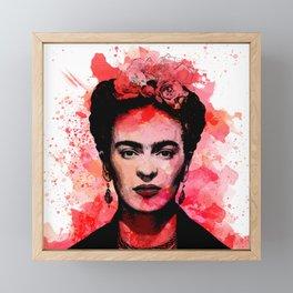 Frida Kahlo Portrait Framed Mini Art Print