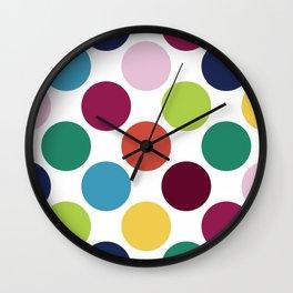 Colorful Dots Wall Clock
