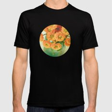 Autumn Day 28 Mens Fitted Tee MEDIUM Black