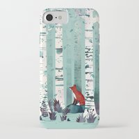 iPhone Cases featuring The Birches by littleclyde