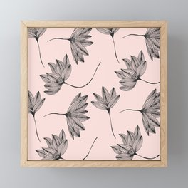 Pink Retro Floral Pattern - Mix and Match with Simplicity of Life Framed Mini Art Print