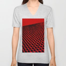 Eye Play in Black and Red Unisex V-Neck