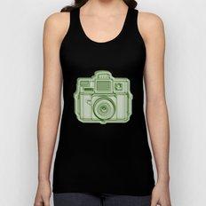 I Still Shoot Film Holga Logo - Reversed Green Unisex Tank Top