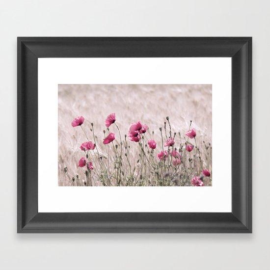 Poppy Pastell Pink Framed Art Print