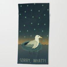 Sorry, what?! Beach Towel