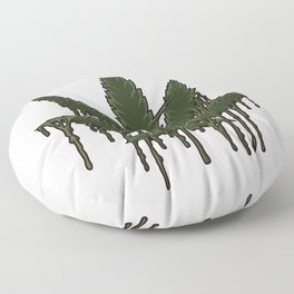 Melting Cannabis Leaf   Marijuana THC CBD Stoner Floor Pillow