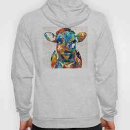 Colorful Cow Art - Mootown - By Sharon Cummings Hoody