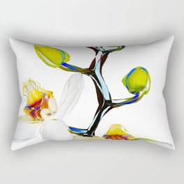 Two orchids and five buds Rectangular Pillow