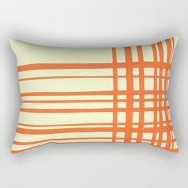 Orange and cream plaid Rectangular Pillow