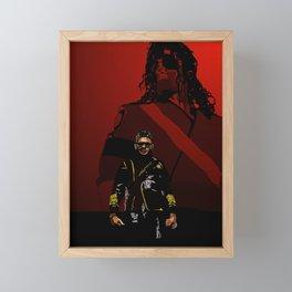 UR MJ passing the torch Framed Mini Art Print