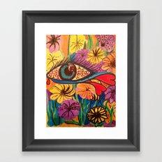 Eye of peace ,tears of love ! Framed Art Print