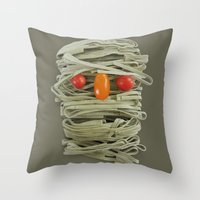 A Thing of the Pasta Throw Pillow