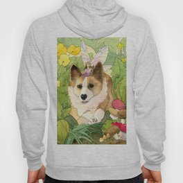 The Faerie and the Welsh Corgi Hoody