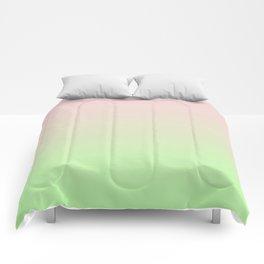 Pastel Ombre Millennial Pink Green Gradient Pattern Comforters