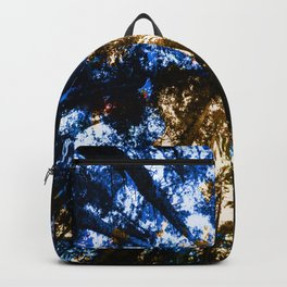 Blue and Gold Crystal Portal Backpack