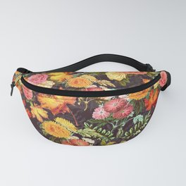 Autumn Flowers and Leaves Fanny Pack
