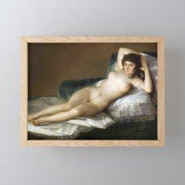 Maja Desnuda (The Nude Maja) by Francisco Goya Framed Mini Art Print