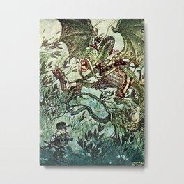 """Jabberwocky"" by Charles Folkard Metal Print"