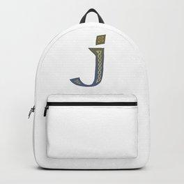 Celtic Knotwork Alphabet - Letter J Backpack