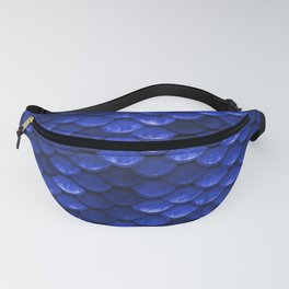 Cobalt Blue Mermaid Tail Scales Fanny Pack