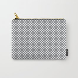 Sharkskin and White Polka Dots Carry-All Pouch