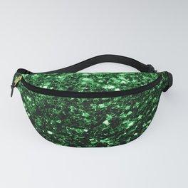 Glamour Dark Green glitter sparkles Fanny Pack