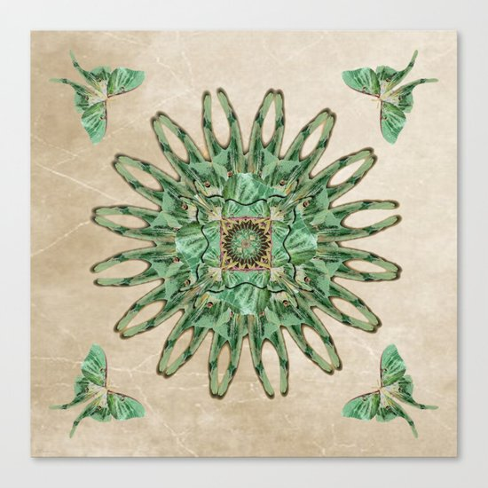 Luna Moth Circle  Canvas Print