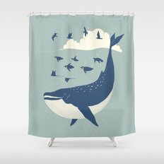 Fly in the sea Shower Curtain