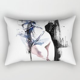 Shibari - Japanese BDSM Art Painting #4 Rectangular Pillow