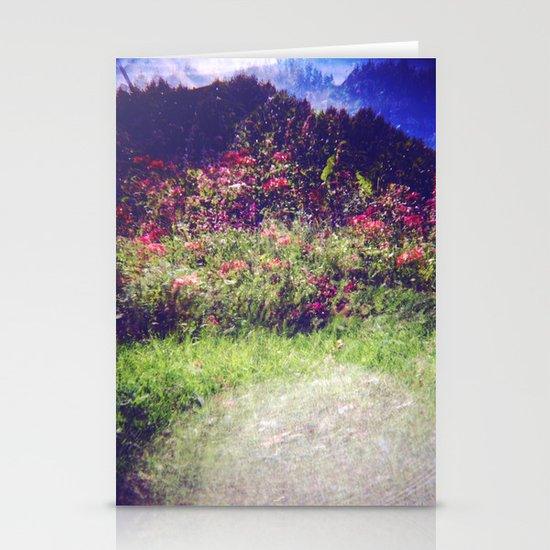 Flowers Plastic Camera Double Exposure Stationery Cards