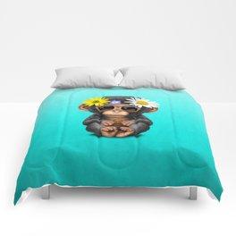 Cute Baby Chimp Hippie Comforters