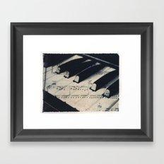 Middle C Framed Art Print
