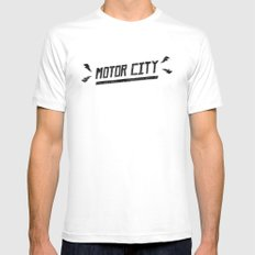 Motor City White MEDIUM Mens Fitted Tee