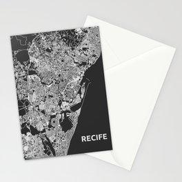 Recife, Brazil street map Stationery Cards