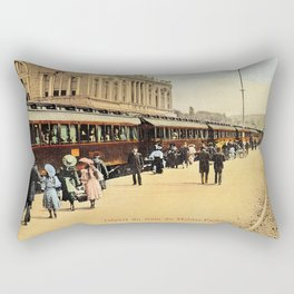 1900s Haydarpasa railroad station, train Rectangular Pillow