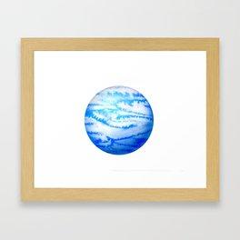 Illustration of watercolor round planet Framed Art Print