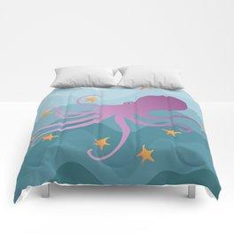 Octopus Juggling Starfish Comforters